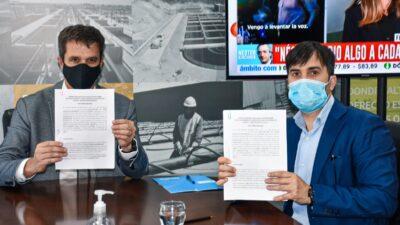 Castelli firmó convenio con ENOHSA por 90 millones para construir una planta depuradora