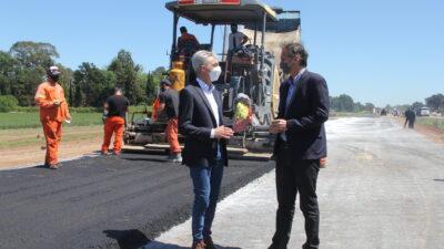 Katopodis y Meoni supervisaron las obras que avanzan a paso firme sobre la RN Nº7