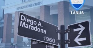 Proponen que la calle principal que te lleva al Hospital Evita de Lanús se llame Diego Maradona