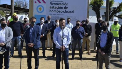 Katopodis, Simone y Álvarez visitaron obras en Bolívar, 25 de Mayo y Roque Pérez