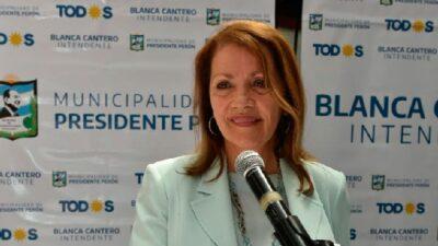 """La intendenta Blanca Cantero acusó a la izquierda de llevar """"gente de distintas localidades"""" a la toma de Guernica"""