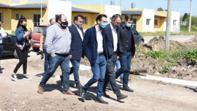 Simone y Katopodis firmaron convenios para obras en General Paz, Pila, Dolores y Tordillo