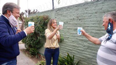 Alte Brown / En Burzaco más de 15 mil familias festejan la llegada del agua potable de la mano de AYSA