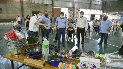 San Martín / Moreira y Arroyo firmaron un convenio para entregar herramientas y maquinarias para comedores