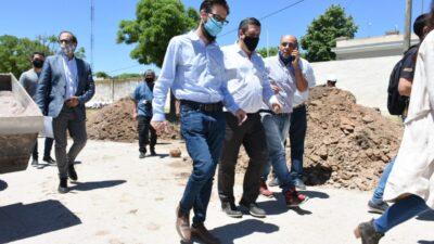 Simone, Katopodis y Alvarez recorrieron obras en Guaminí y Pigüé