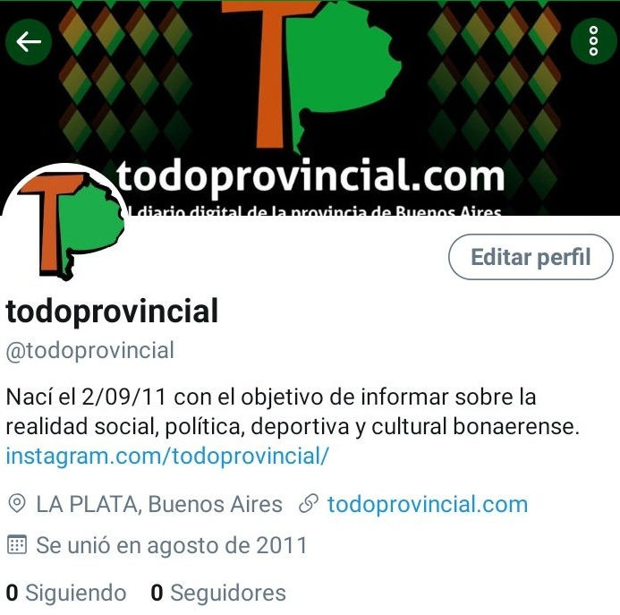 Twitter CENSURA y ROBA más de 7 mil seguidores a TODOPROVINCIAL de su cuenta