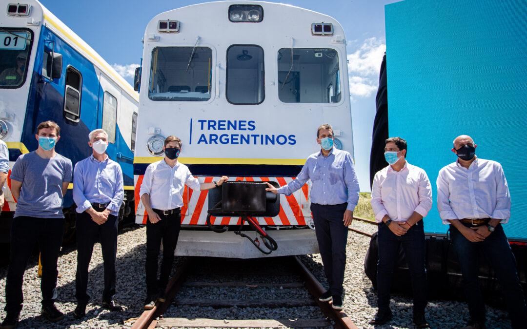 Tras 5 años inactivo, retornó el tren de pasajeros a Pinamar