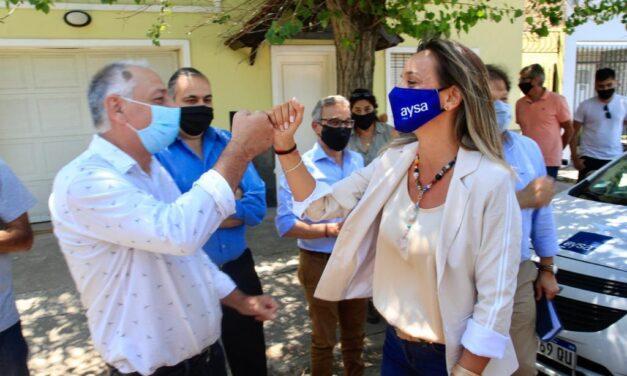 Morón: Galmarini y Ghi pusieron en servicio una red de cloacas para más de 3400 habitantes de Haedo