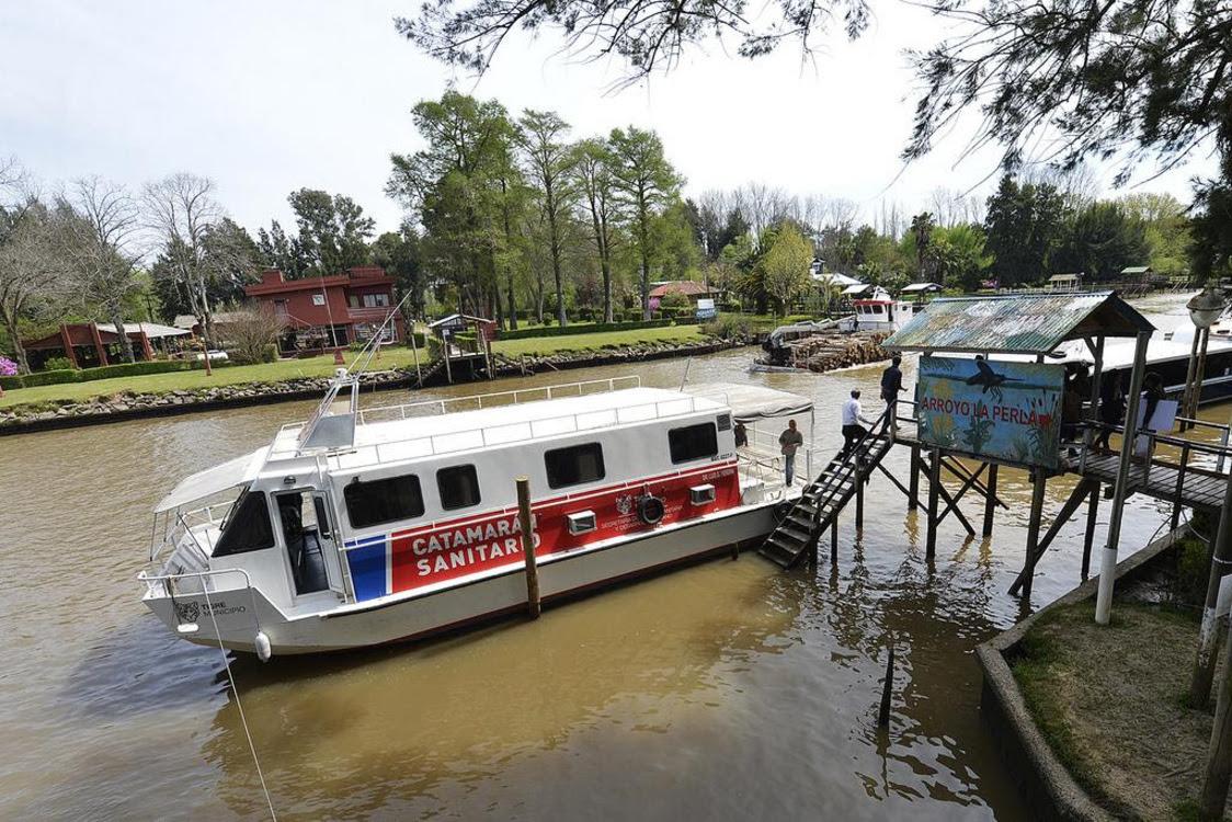 El detalle de cómo funcionará el catamarán sanitario en el Delta de Tigre durante Enero