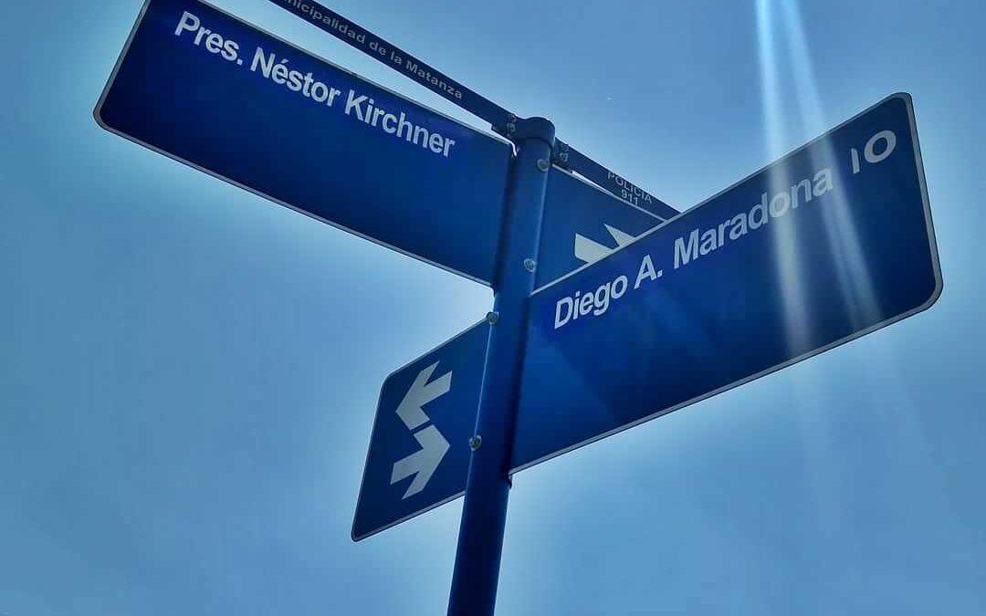 Señales: Las calles Maradona y Kirchner unidas en el hospital Alberto Ballestrini
