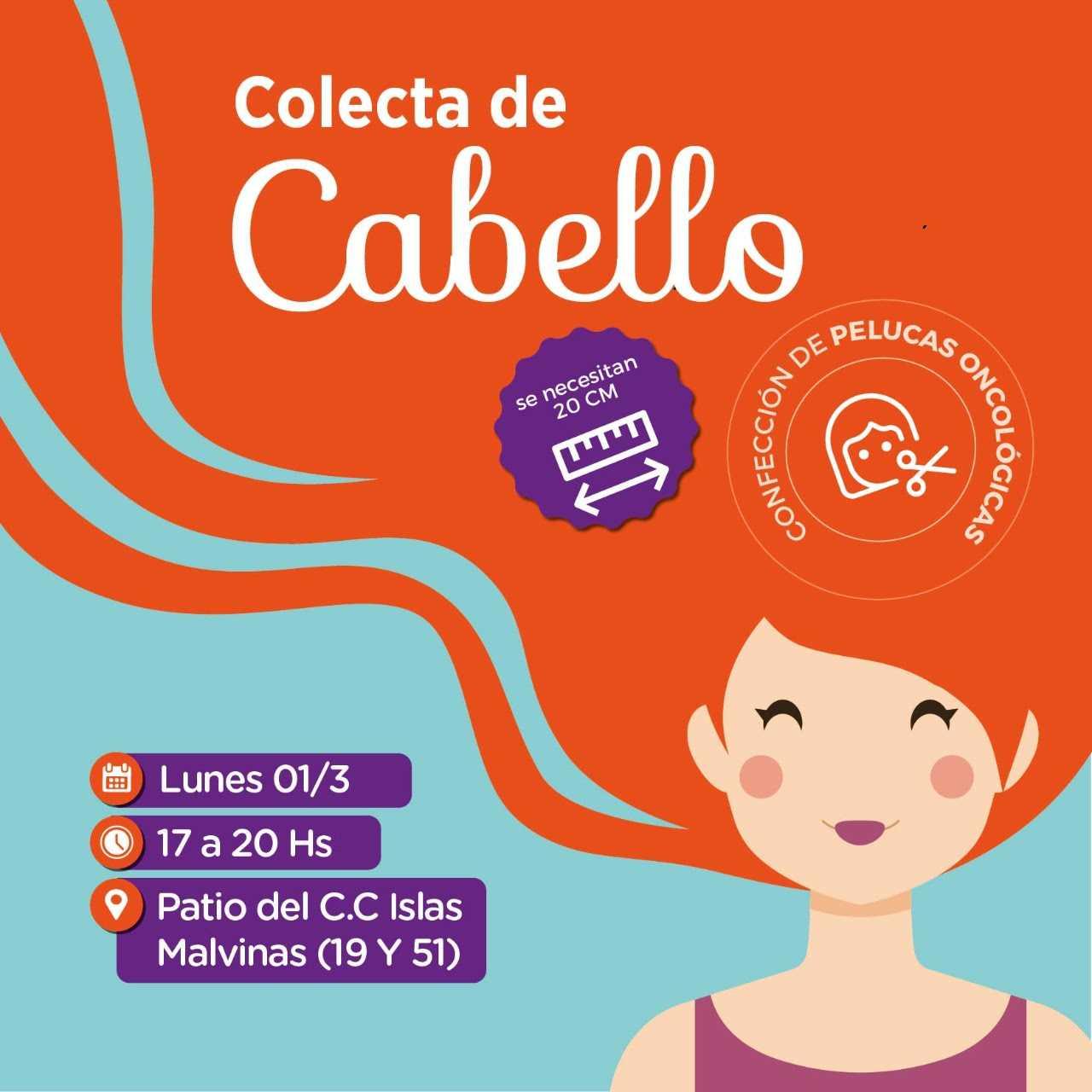 La Plata: Colecta de cabello en Plaza Islas Malvinas para confección de pelucas para pacientes oncológicos