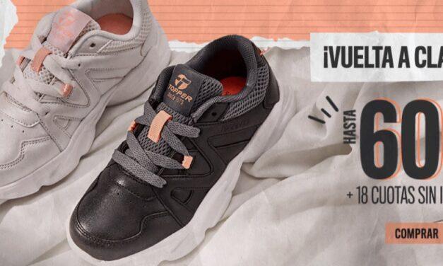 Vuelta a Clases: Topper lanzó descuentos en zapatillas, 18 cuotas sin interés y envío gratis