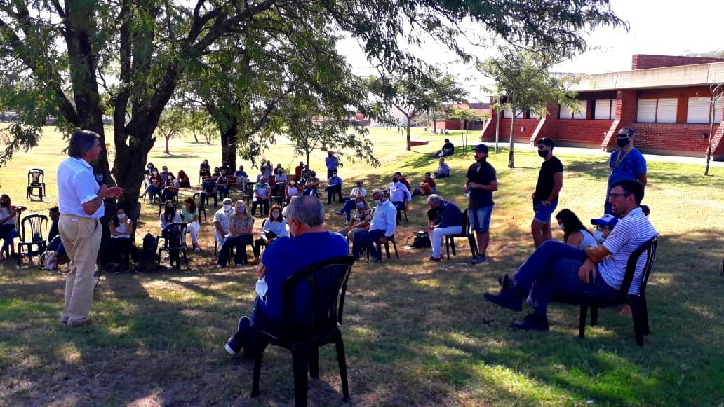 Néstor Auza encabezó una asamblea en el campus de la Unicen en Olavarría