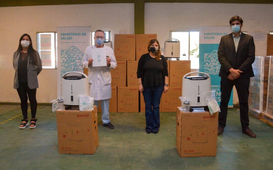 """Provincia reparte concentradores de oxígeno """"infinito"""" para pacientes leves"""