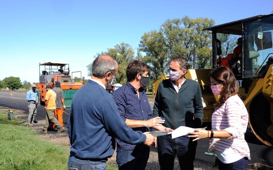Rojas: Avanzan las obras de repavimentación en la ruta nacional 188