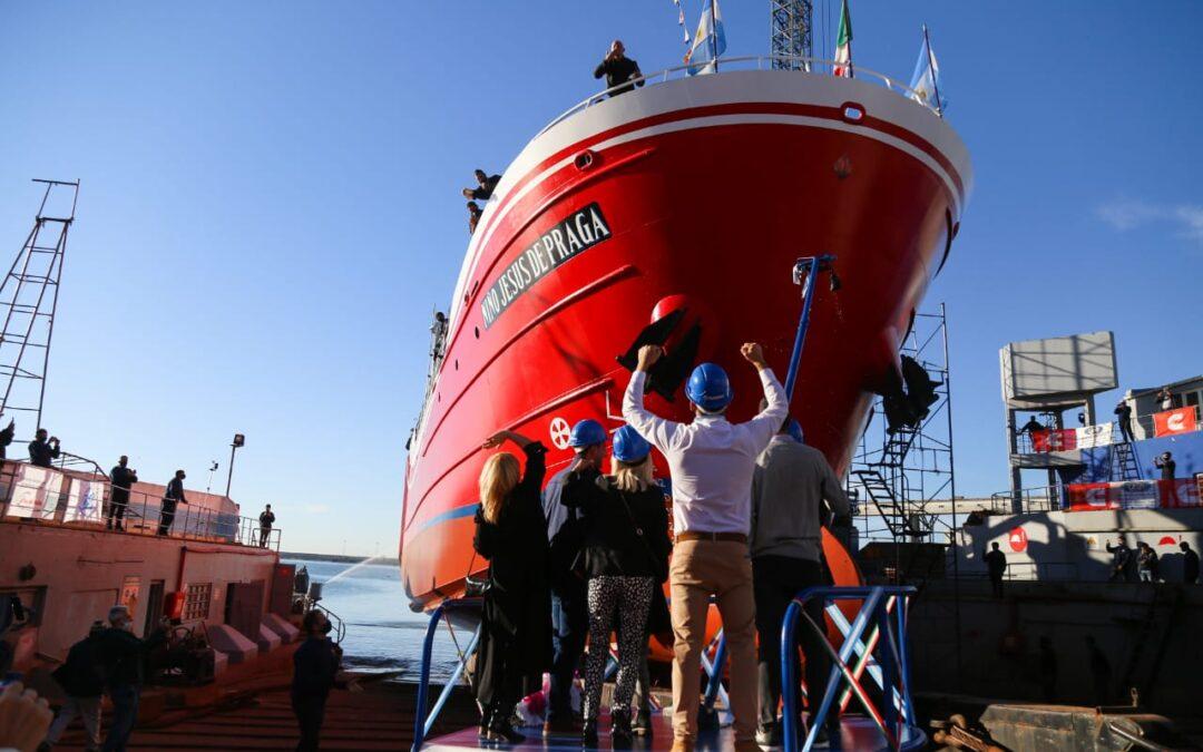 """Mar del Plata: Con sello bonaerense se construyó el buque pesquero """"Niño jesús de Praga"""""""