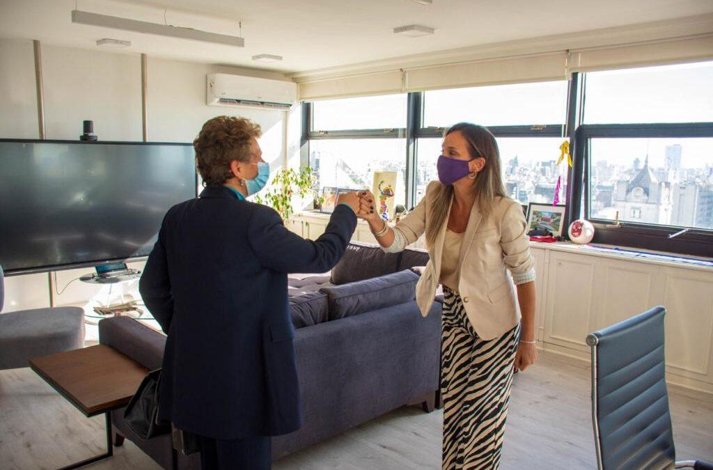 Malena Galmarini recibió a la Embajadora de Israel, Galit Ronen