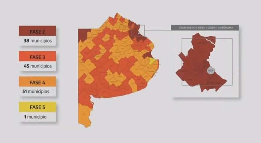 Provincia: 38 municipios en Fase 2, 45 en Fase 3, 51 en Fase 4 y tan sólo uno en Fase 5
