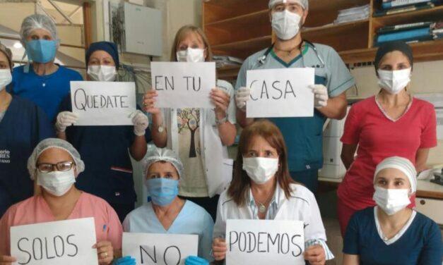"""Médicos de Chacabuco volvieron a pedir que """"te quedes en tu casa"""" ante el incremento de casos de covid"""