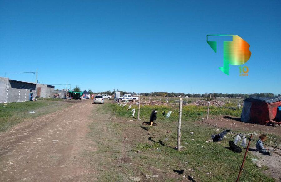 Toma de tierras en el barrio Luordes de Olavarría