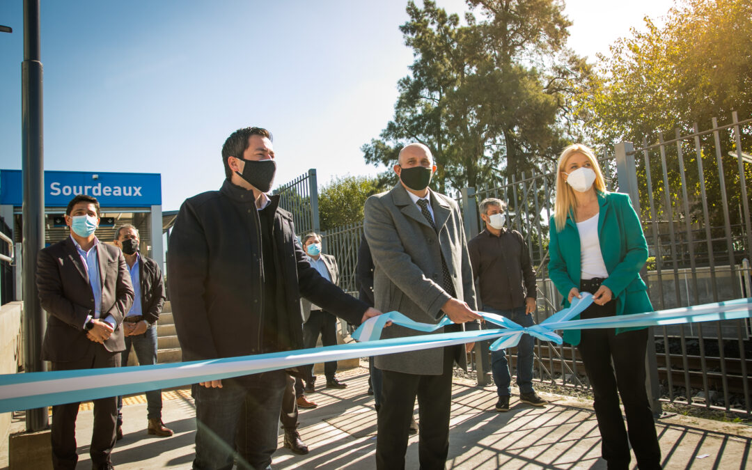 Guerrera y Magario inauguraron una estación de trenes en Malvinas Argentinas