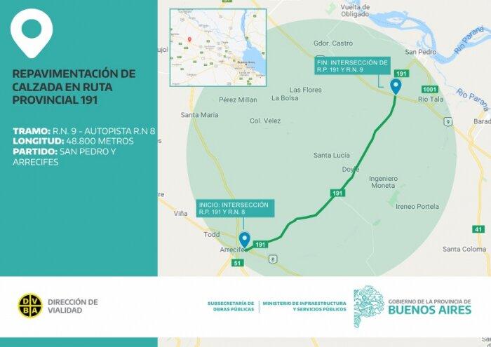 Los detalles de la obra de la ruta 191