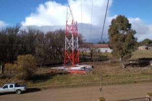 La antena instalada es una torre autosoportada y emitirá señal en 20 km a la redonda.