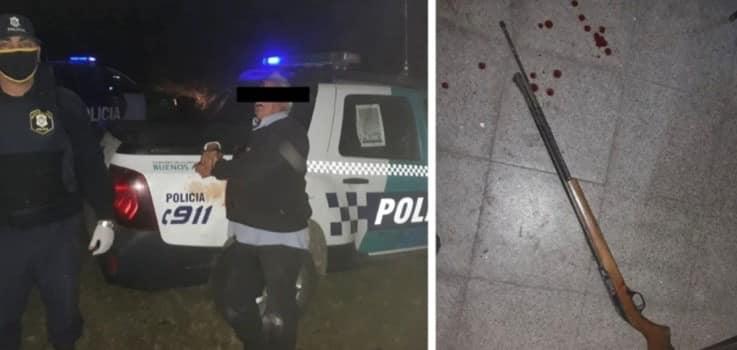 Brutal femicidio en Lezama: un hombre mató a su esposa con una carabina y luego se disparó