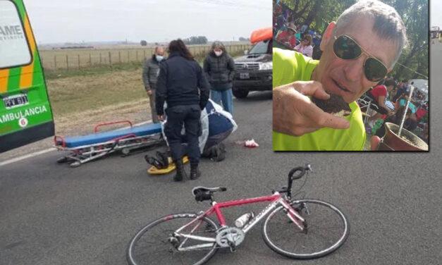 Olavarría: cayó de su bicicleta en la ruta y murió un reconocido ciclista dos veces ganador de la Doble Bragado