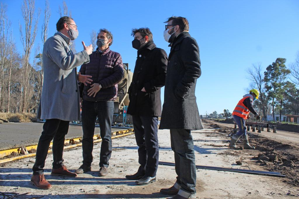 Torchio con Katopodis, Bianco y Simone en Carlos Casares
