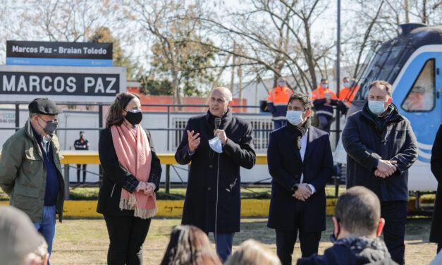 El Tren Belgrano llegó a Marcos Paz luego de 28 años de ausencia