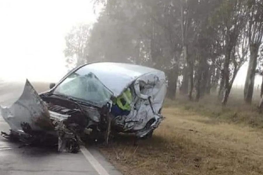 Un muerto en un choque frontal en la ruta 88 cerca de Miramar