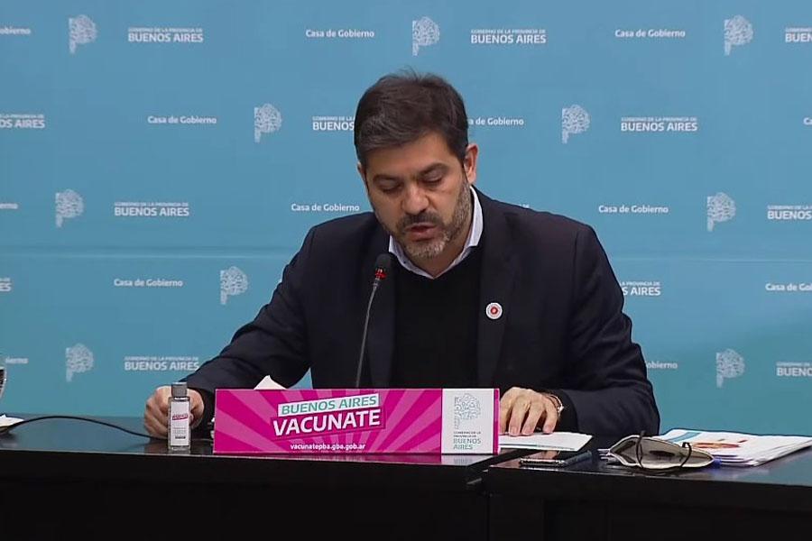"""Carlos Bianco, anunció hoy que a partir del próximo lunes """"toda la provincia de Buenos Aires vuelve a las clases presenciales""""."""