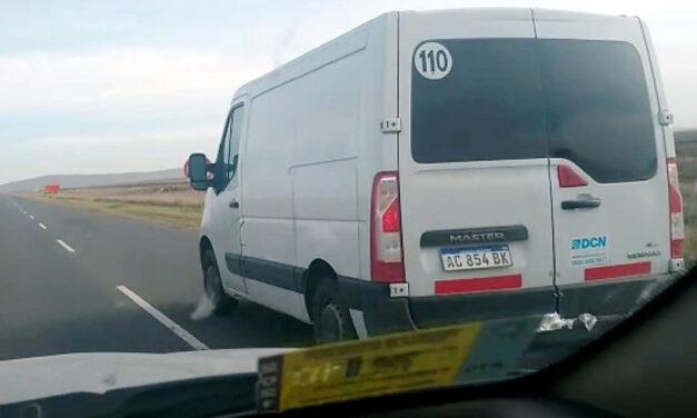 Pudo terminar en una tragedia: filman a un conductor haciendo una temeraria maniobra sobre ruta 51