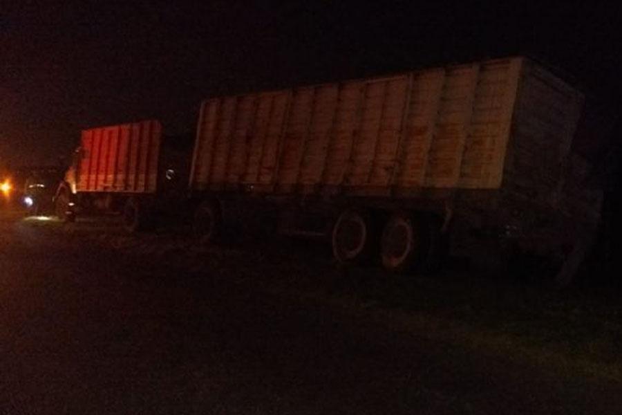 El conductor del camión resultó ileso