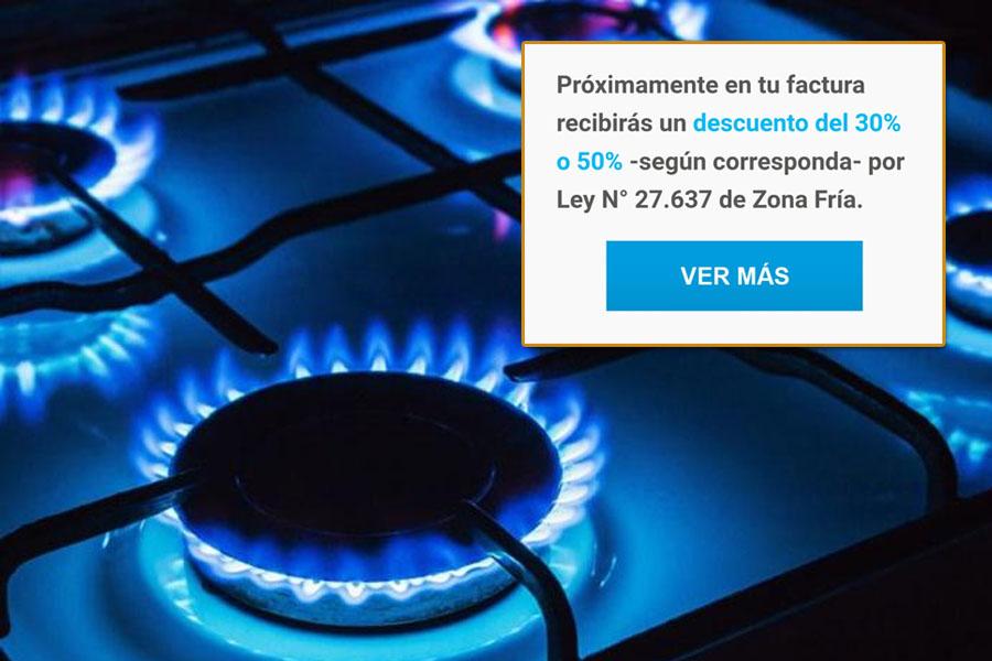 """Zona Fría: Camuzzi notifica a sus usuarios sobre los """"descuentos del 30% o 50%"""" en las próximas facturas de gas"""
