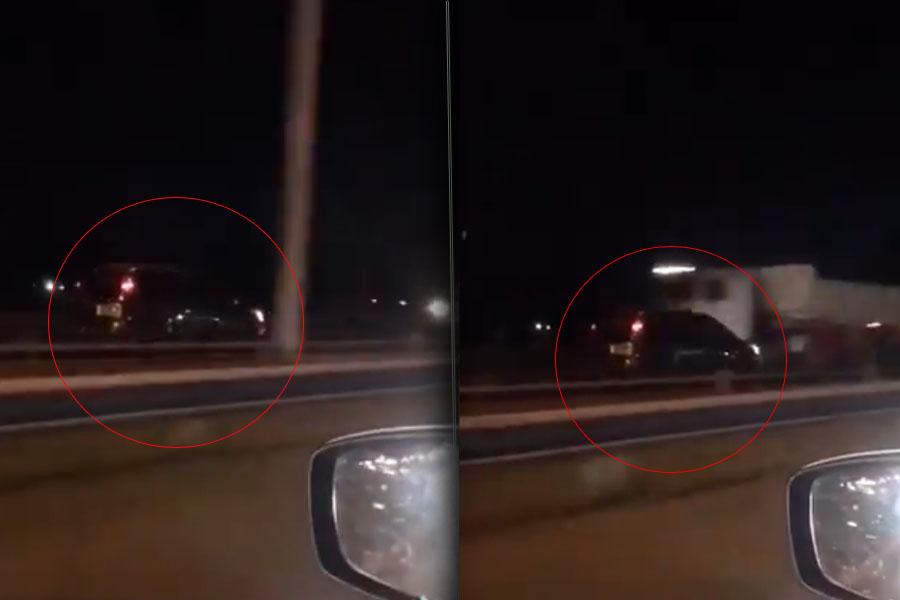 Irresponsable al volante: conductor fue captado a contramano y gran velocidad por Ruta 3 La Matanza