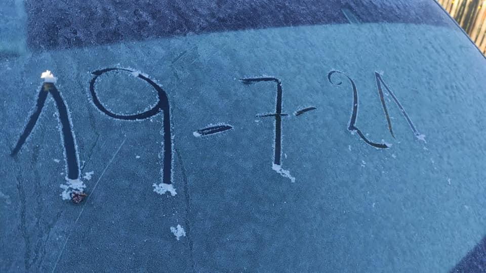 """Este lunes cayeron heladas """"de las de antes"""" y hubo ciudades con frío récord"""