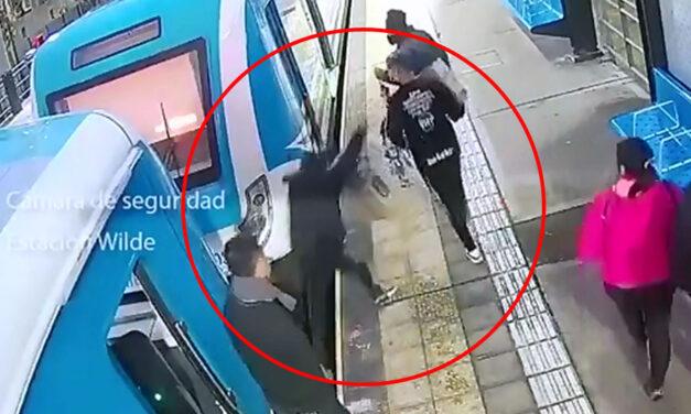 Pánico en la estación Wilde: discutió con su hermano y lo arrojó a las vías con el tren en función