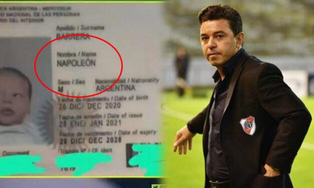 Es de Bragado y fanático de River: bautizó a su hijo con el nombre de Napoleón por Marcelo Gallardo
