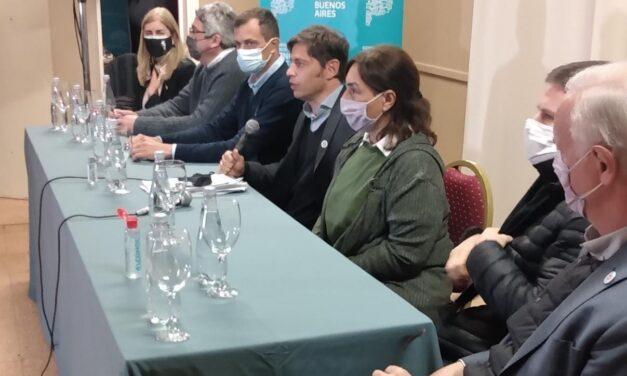 Kicillof en Azul habló de la reactivación económica y la ayuda para los que más sufrieron la pandemia
