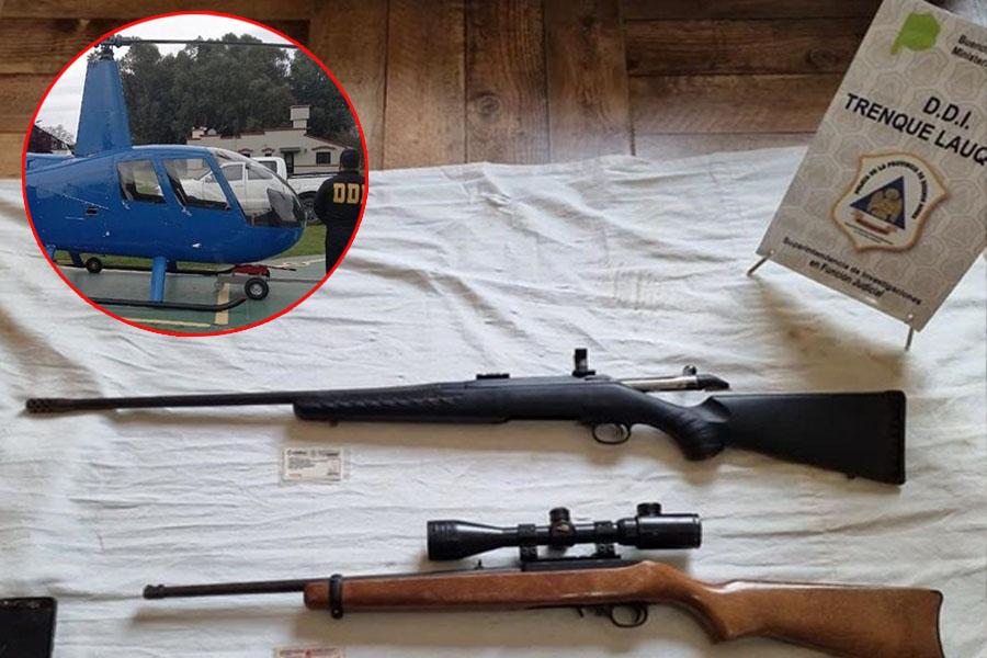 Secuestro de armas y embargo millonario para los cazadores de jabalíes a bordo de helicóptero