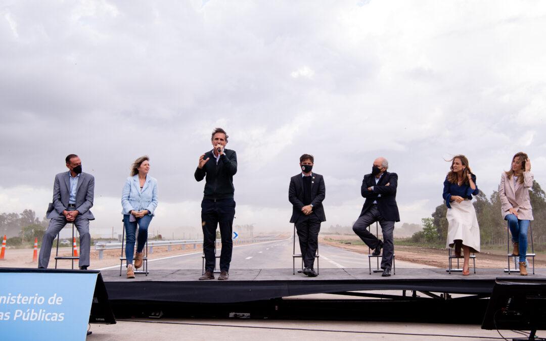 """Kicillof y Katopodis inauguraron un tramo de la Autopista Presidente Perón: """"Este es un día histórico para la Provincia"""""""