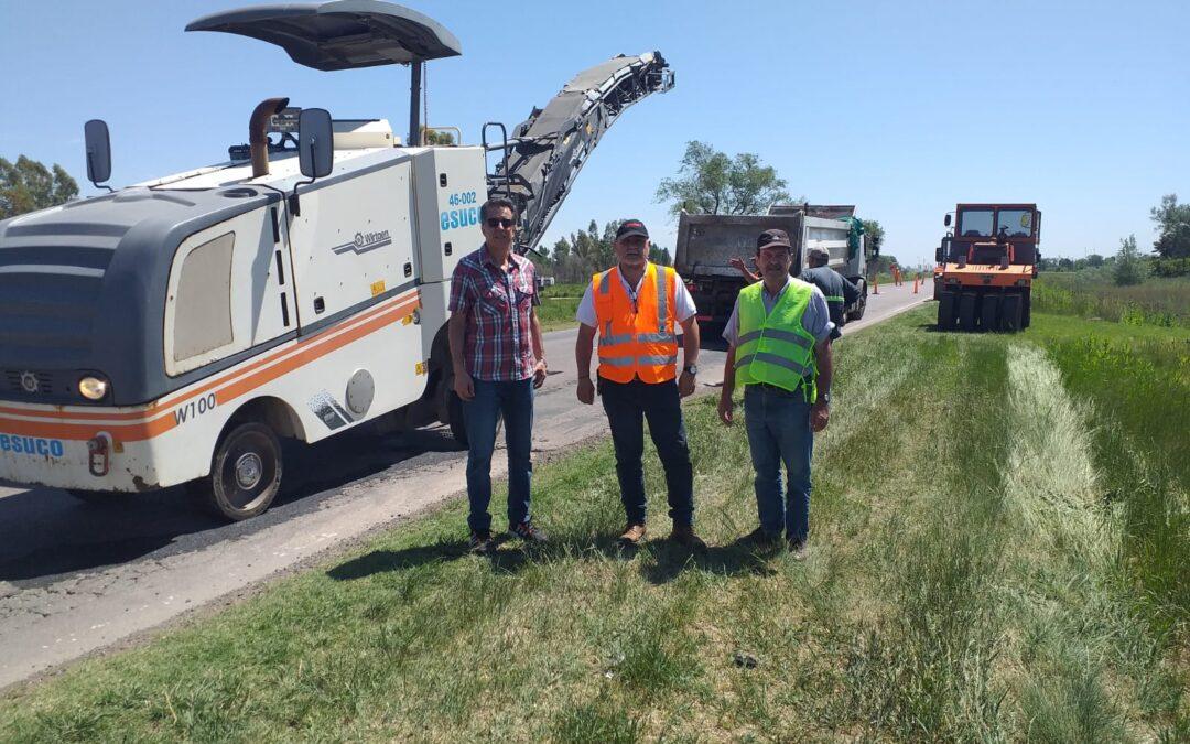 Comenzó la obra de reparación de la ruta nacional 33 en el tramo de américa