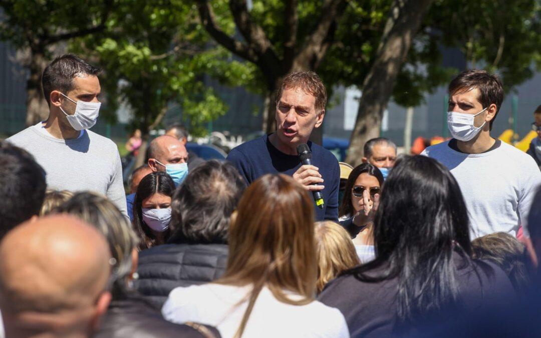 Santilli eligió nuevamente a San Nicolás para relanzar su campaña junto a Manuel Passaglia