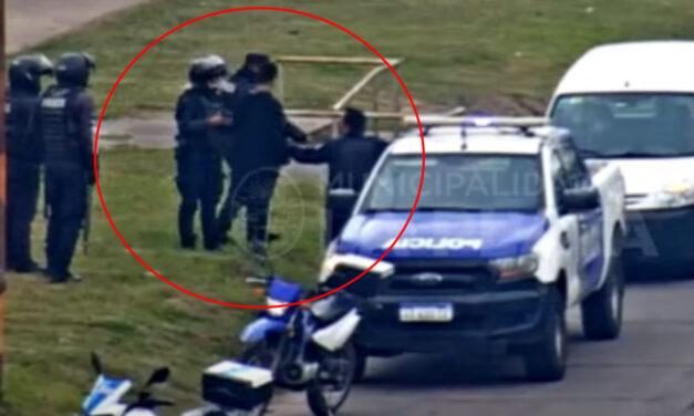 VIDEO: ladrón intentaba entrar a robar una casa en La Plata, pero fue sorprendido por la policía
