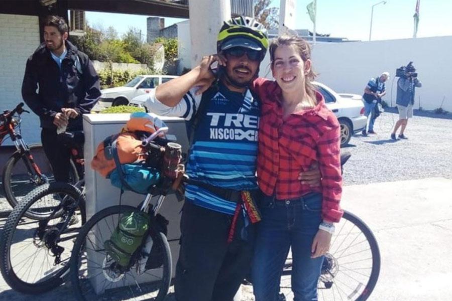 Amor a la mexicana: pedaleó desde México hasta Mar del Plata durante un año para reencontrarse con su novia