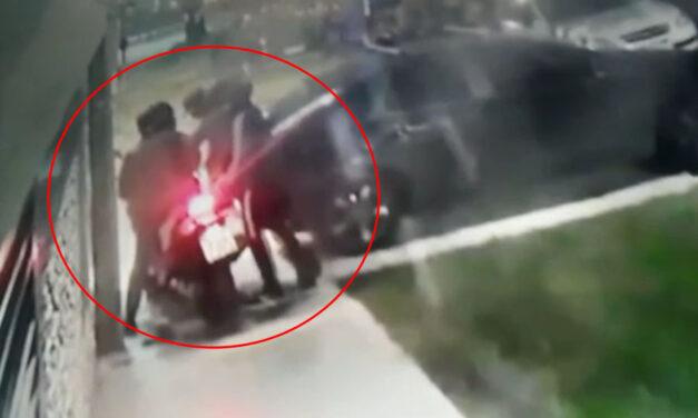 VIDEO: vecino de La Plata se agarró a las trompadas con dos motochorros que intentaron robarle